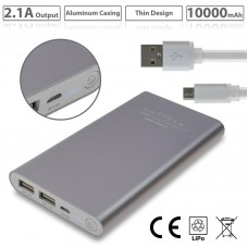 Powerbank 10,000mAh Silver