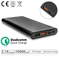 Power bank 10000mAh Black Quick Charge