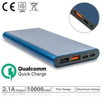 Power bank 10000mAh Blue Quick Charge