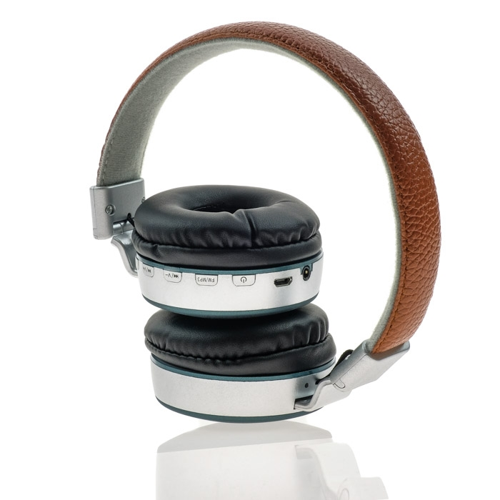 Wireless Headset MS-K4 Brown-Green με τεχνητό δέρμα image
