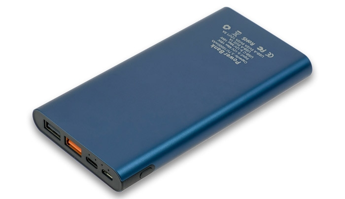 power bank 10000mAh Quick Charge blue image1