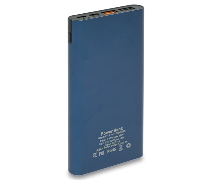 power bank 10000mAh Quick Charge blue image2